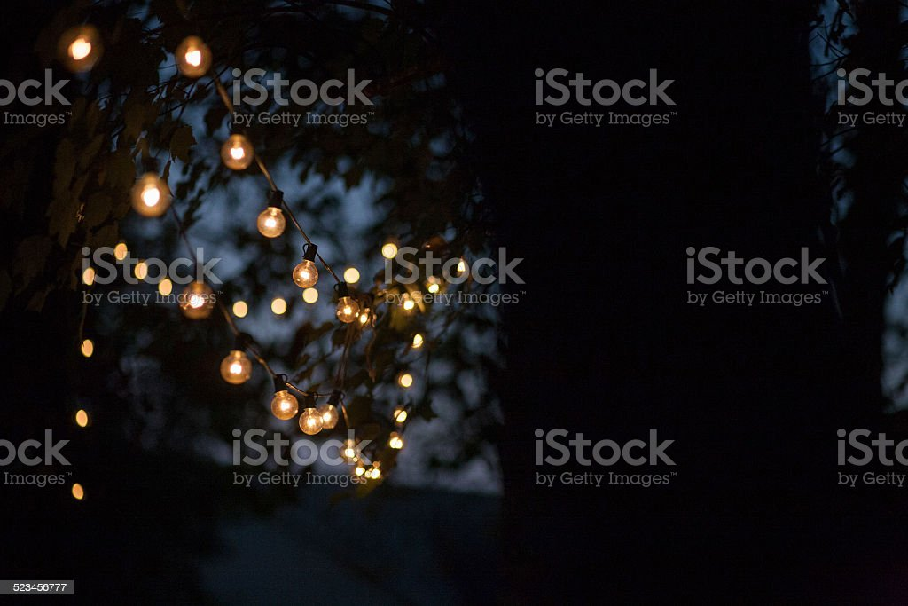 Outdoor String Lights 1 stock photo