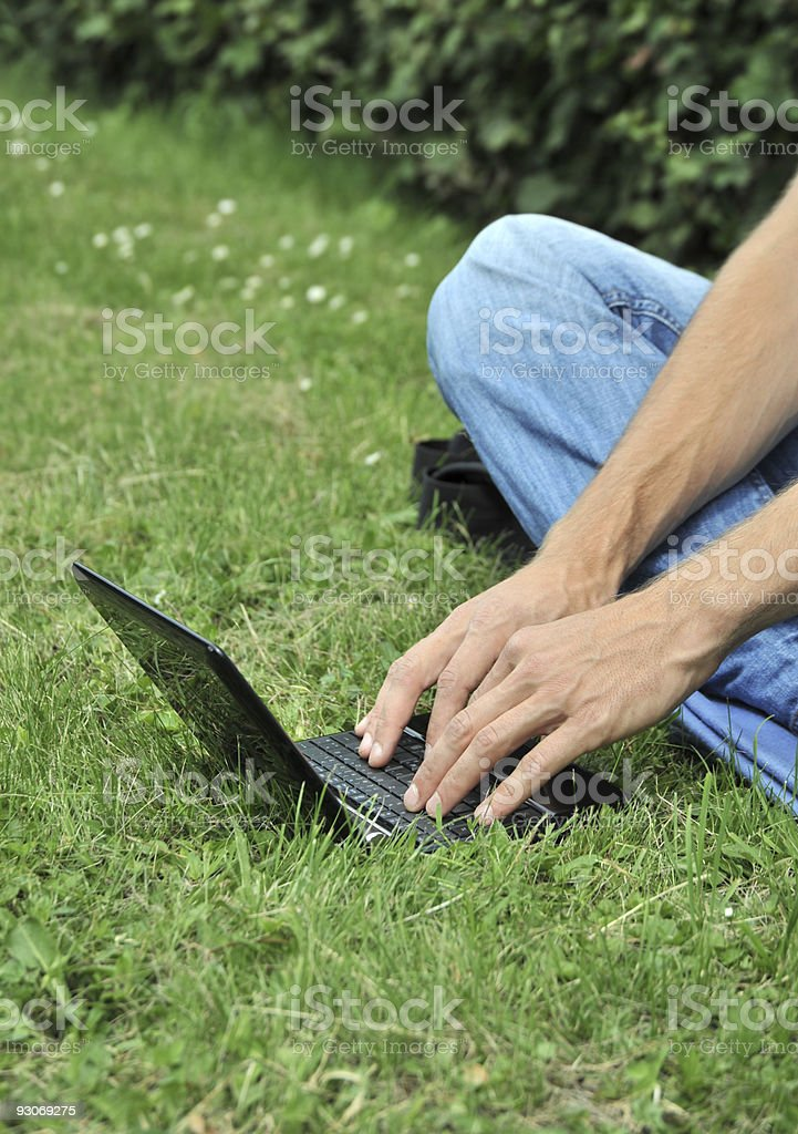 Outdoor Studying stock photo