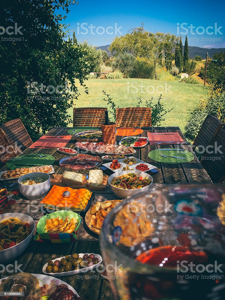 Outdoor Summer Platter stock photo