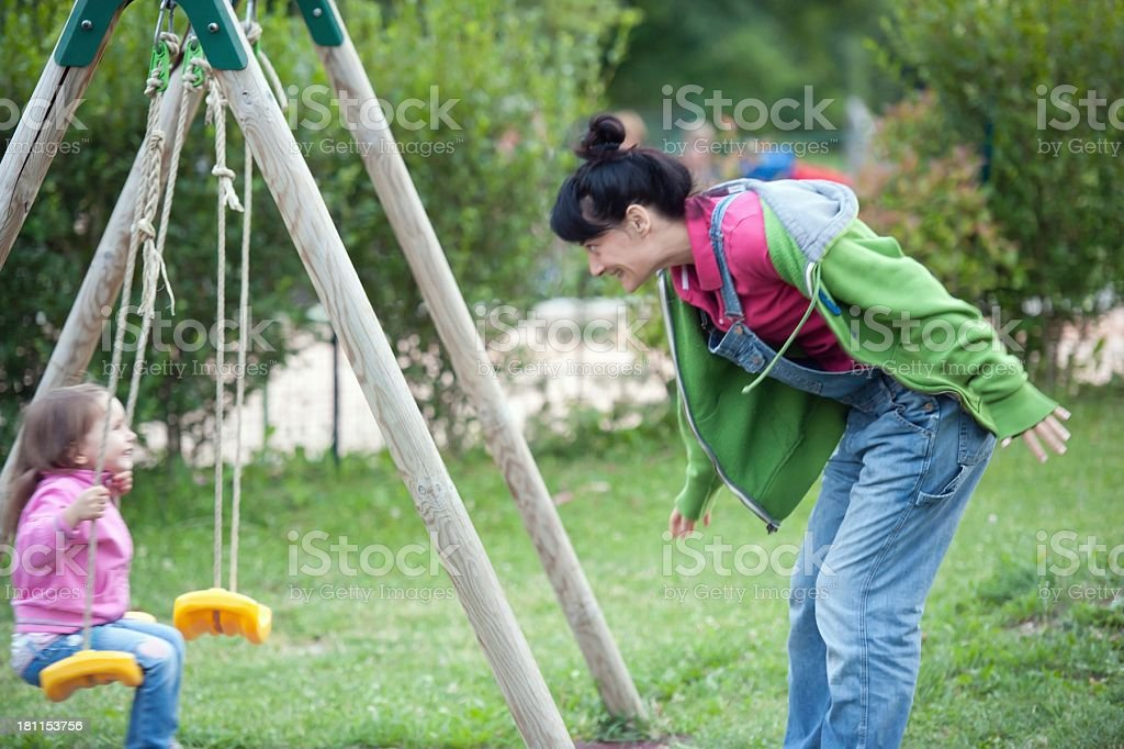 Outdoor Swing Play stock photo