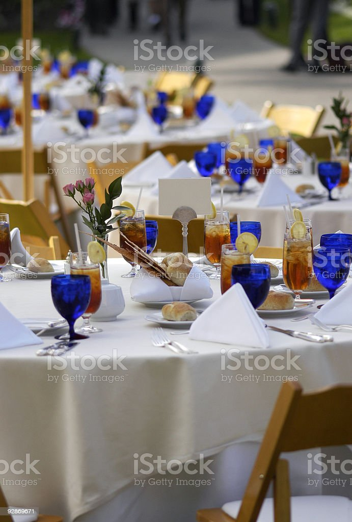 Outdoor tables on hotel terrace royalty-free stock photo
