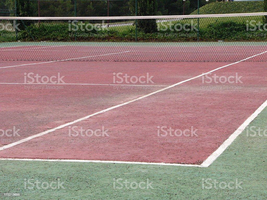 Outdoor tennis court 1 stock photo