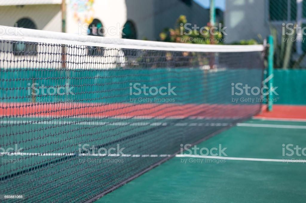 Outdoor  tennis court stock photo