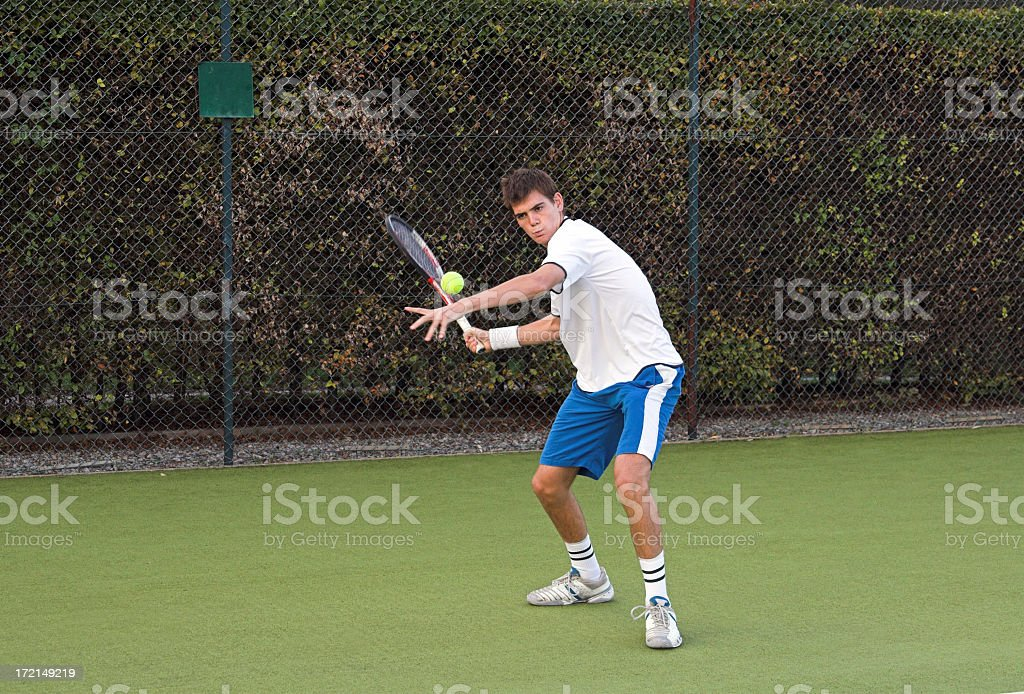Outdoor tennis match royalty-free stock photo