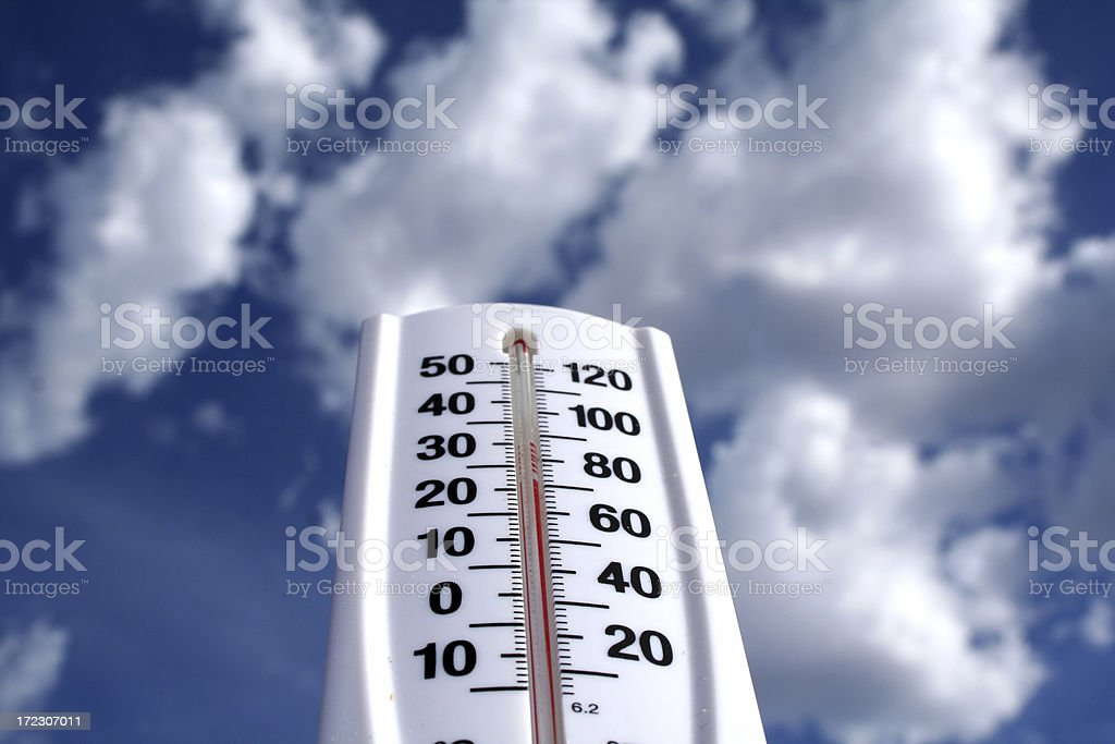 Outdoor Thermometer royalty-free stock photo
