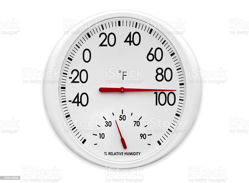 Outdoor Thermometer/Hygrometer stock photo