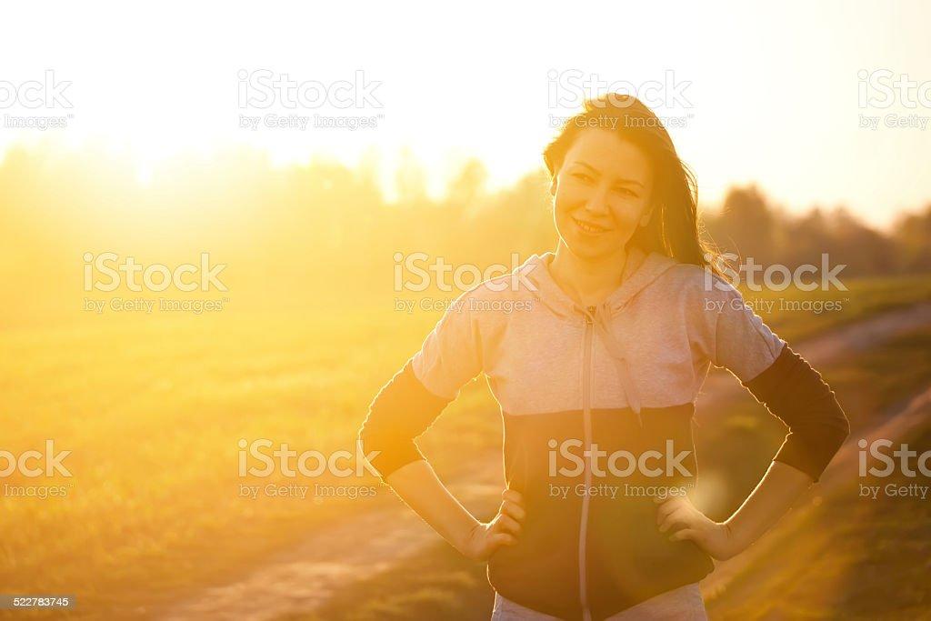 outdoor training stock photo