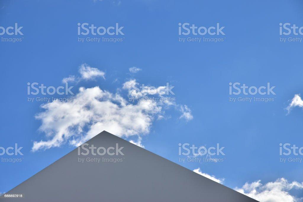 Outdoor triangular roof scenery stock photo