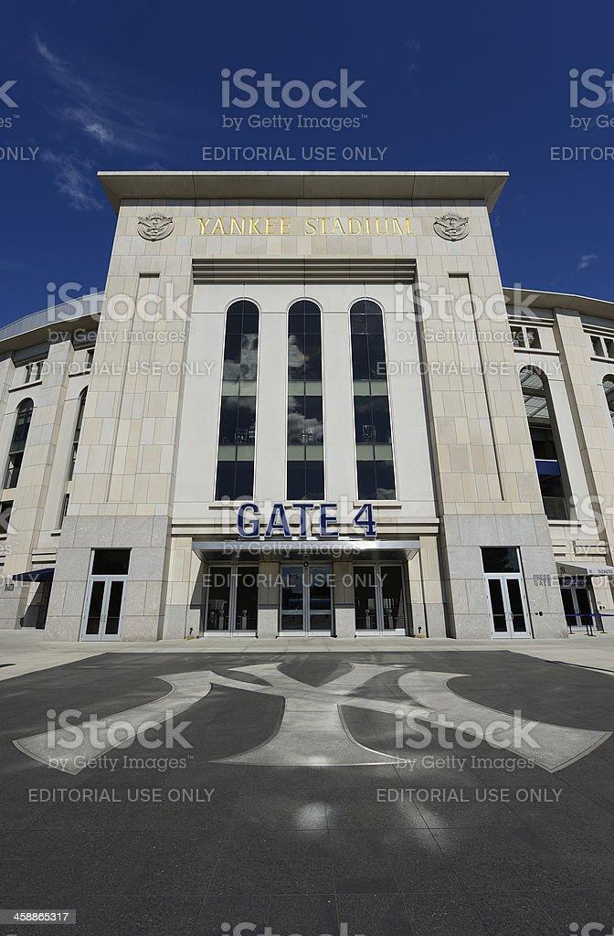 Outdoor View of Yankee Stadium stock photo