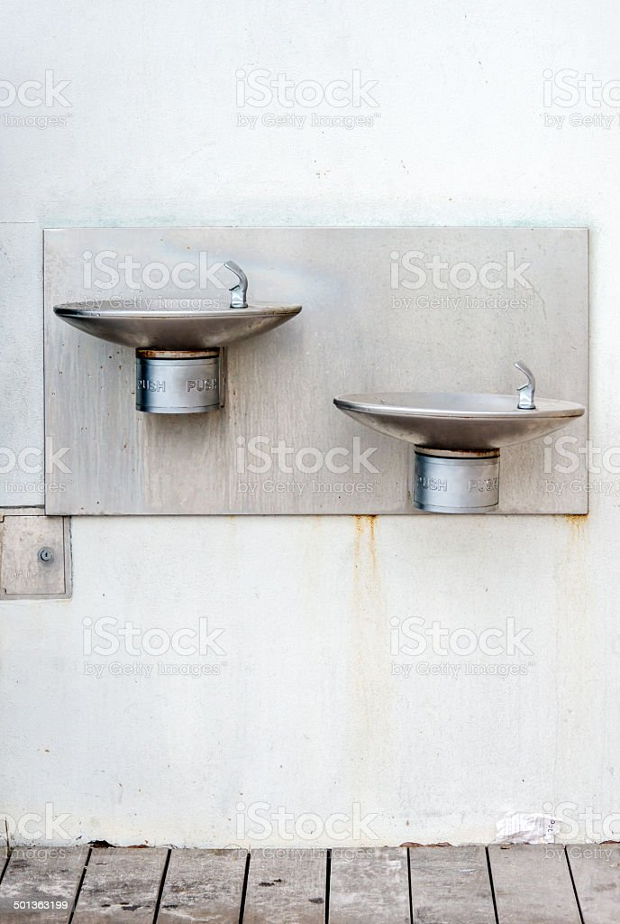 Outdoor Water Drinking Fountains stock photo