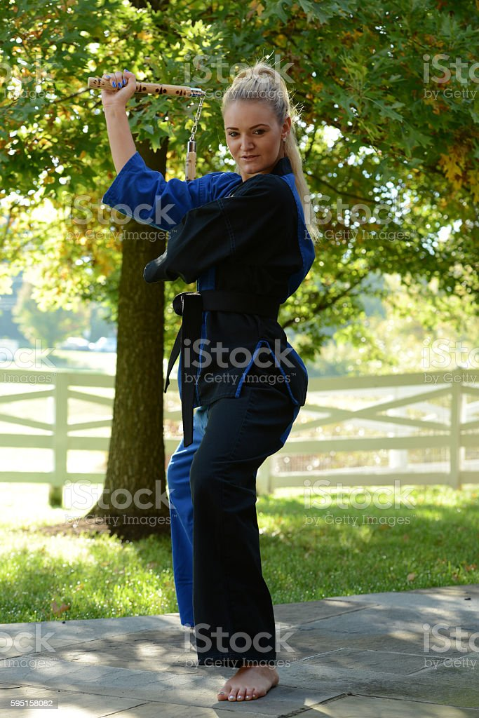 Outdoor Weapons Training stock photo