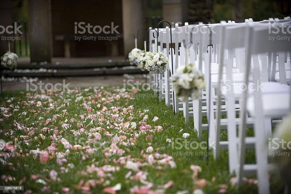 Outdoor Wedding Aisle stock photo