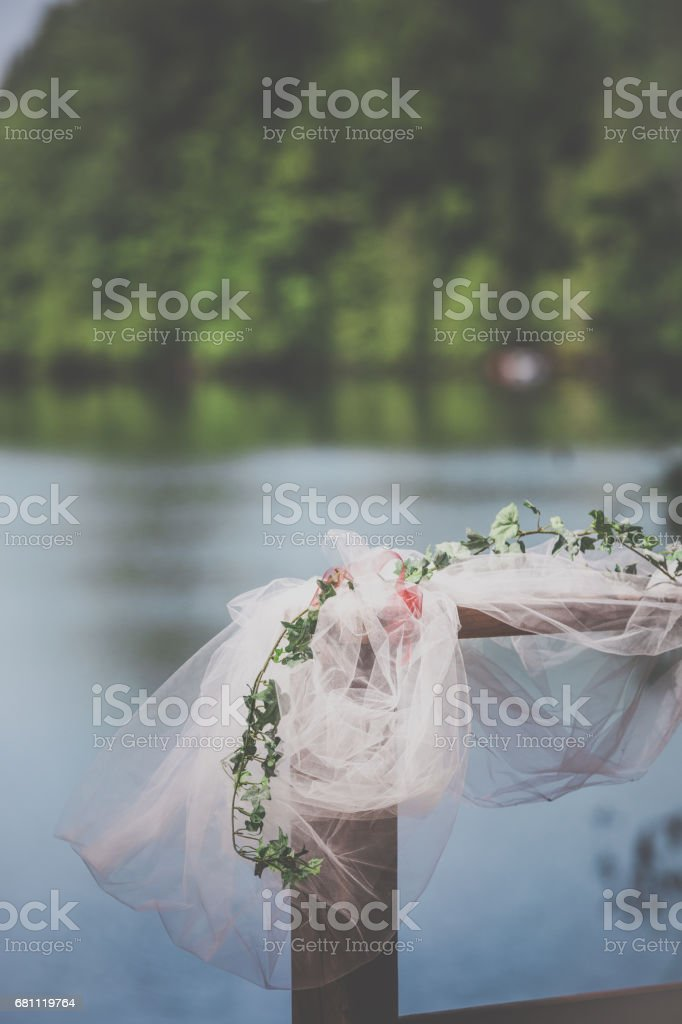 Outdoor Wedding Birthday Party Decorations stock photo