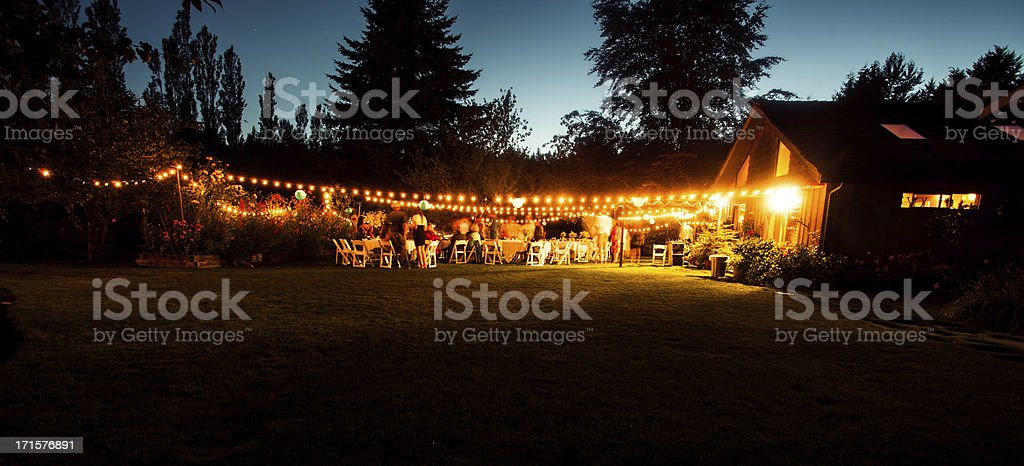 Outdoor Wedding Reception stock photo