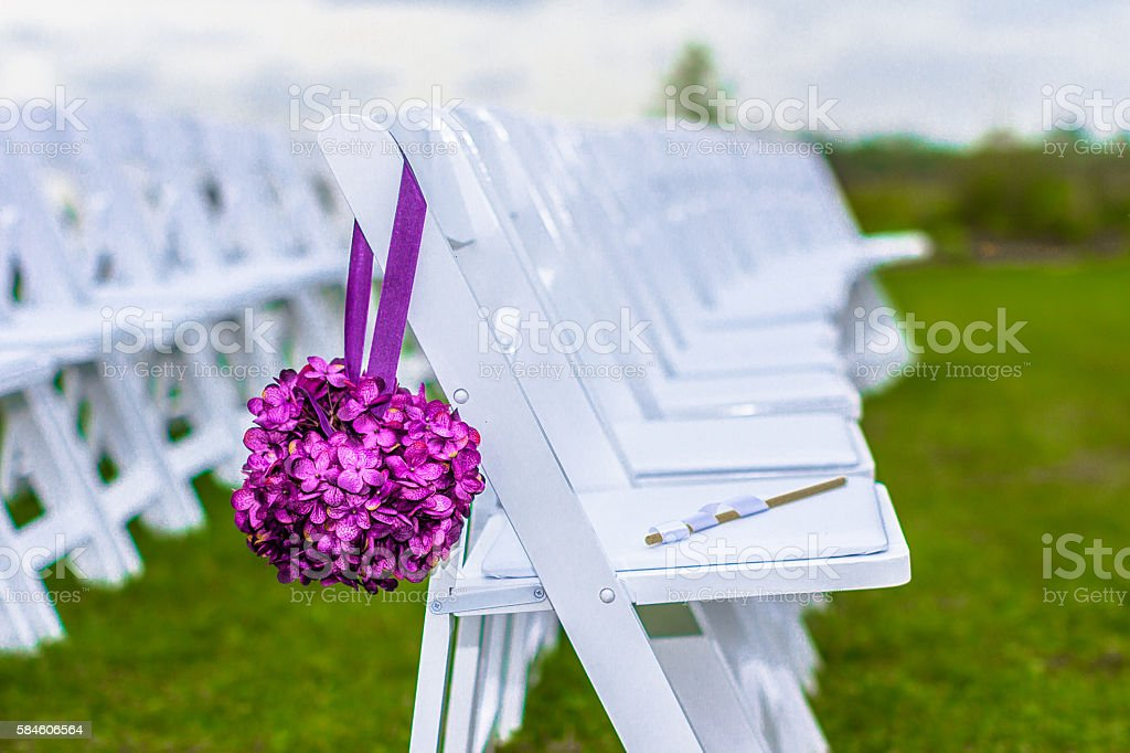 Outdoor Wedding Seating stock photo