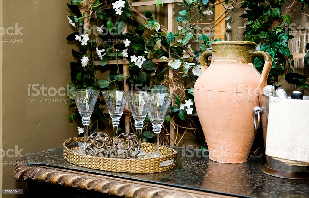 Outdoor Wine Service royalty-free stock photo