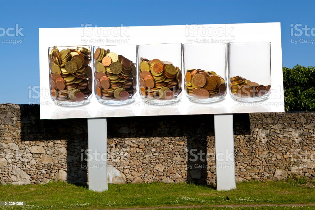 Outdoor with Loss of Income stock photo