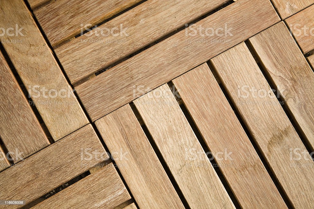 Outdoor wood decking tile royalty-free stock photo