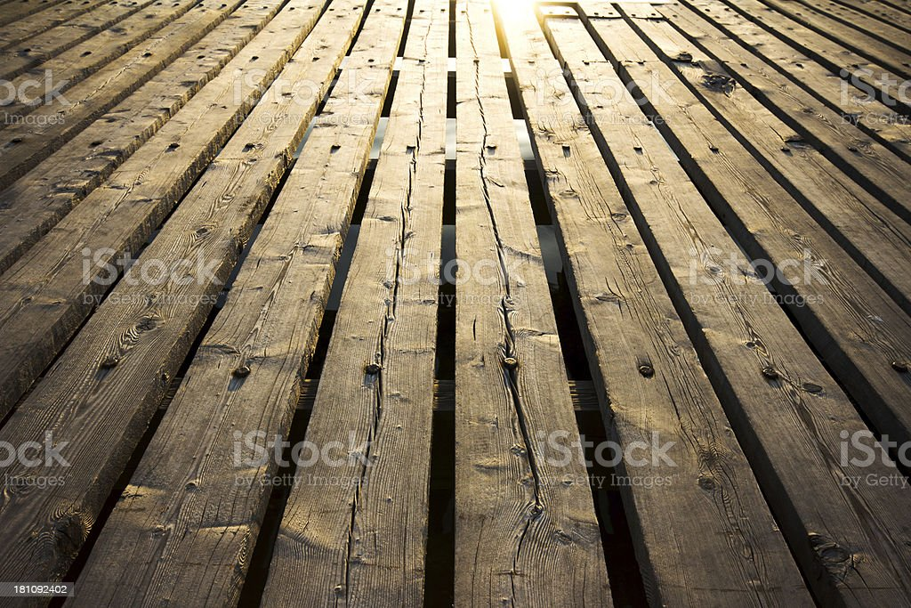 Outdoor Wooden Floor stock photo