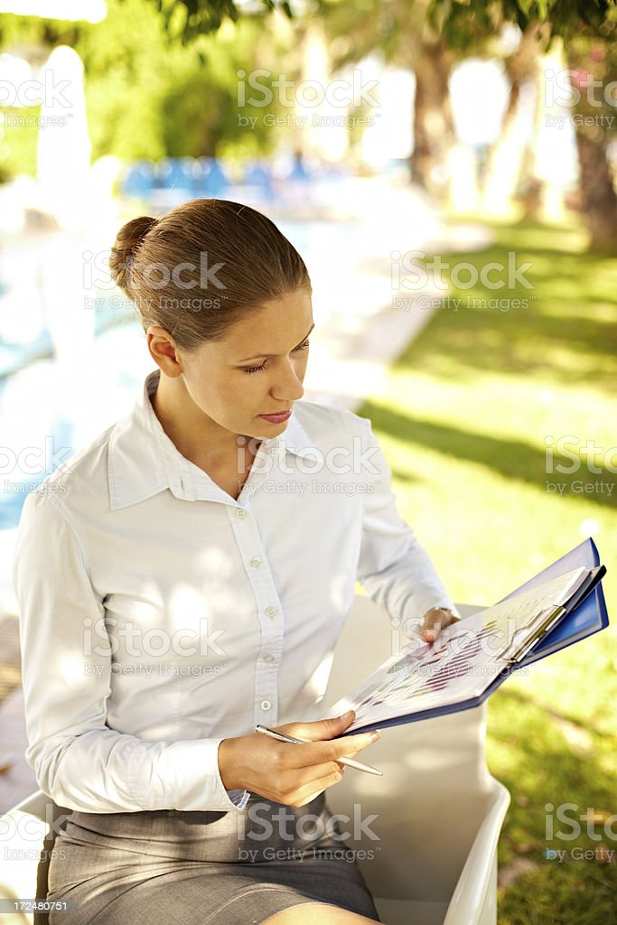 Outdoor work royalty-free stock photo