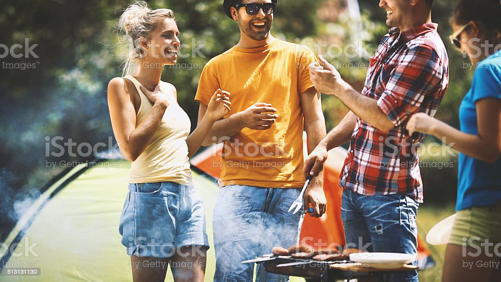 Outdoors barbecue. stock photo
