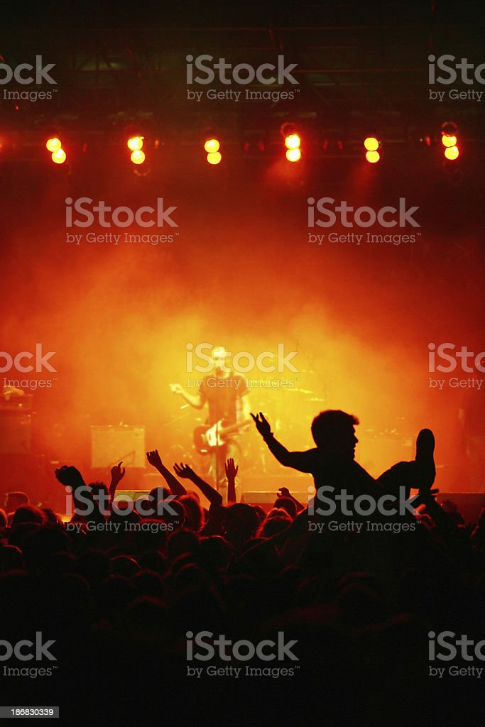 Outdoors concert royalty-free stock photo