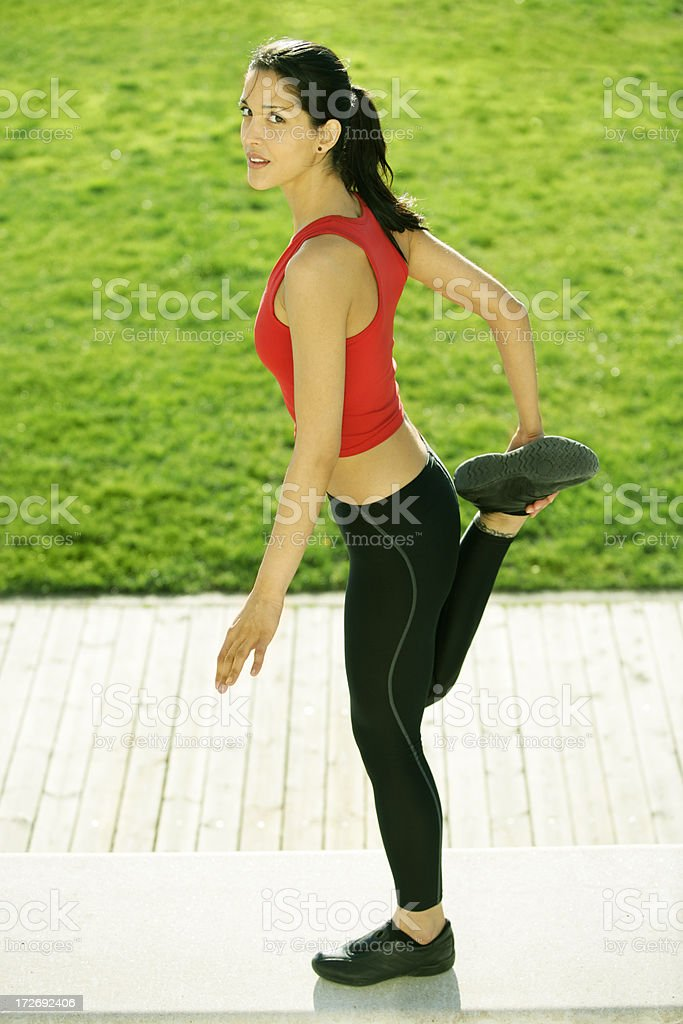 Outdoors exercise royalty-free stock photo
