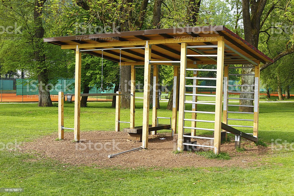 Outdoors exercising equipment royalty-free stock photo
