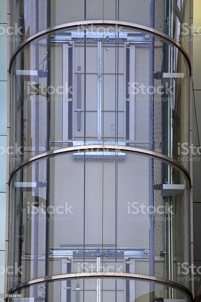outdoors glass elevator royalty-free stock photo