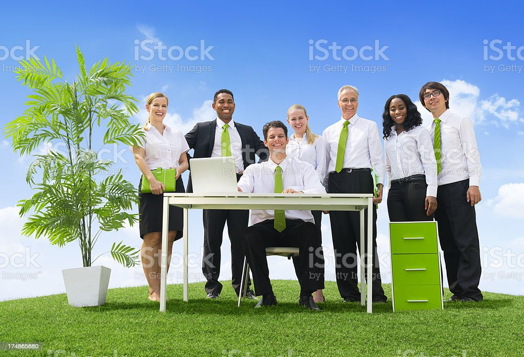 Outdoors green business royalty-free stock photo