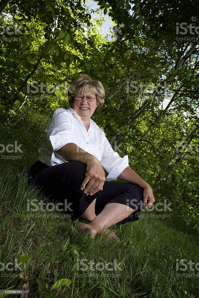 Outdoors living room royalty-free stock photo