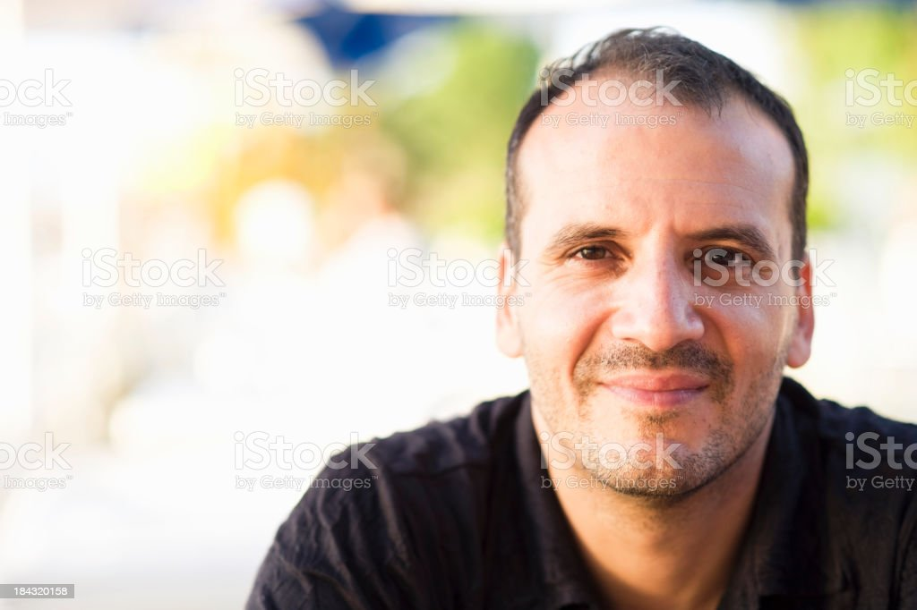 Outdoors Man Portrait royalty-free stock photo