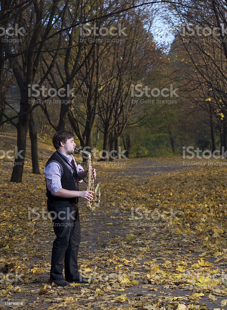 Outdoors music stock photo