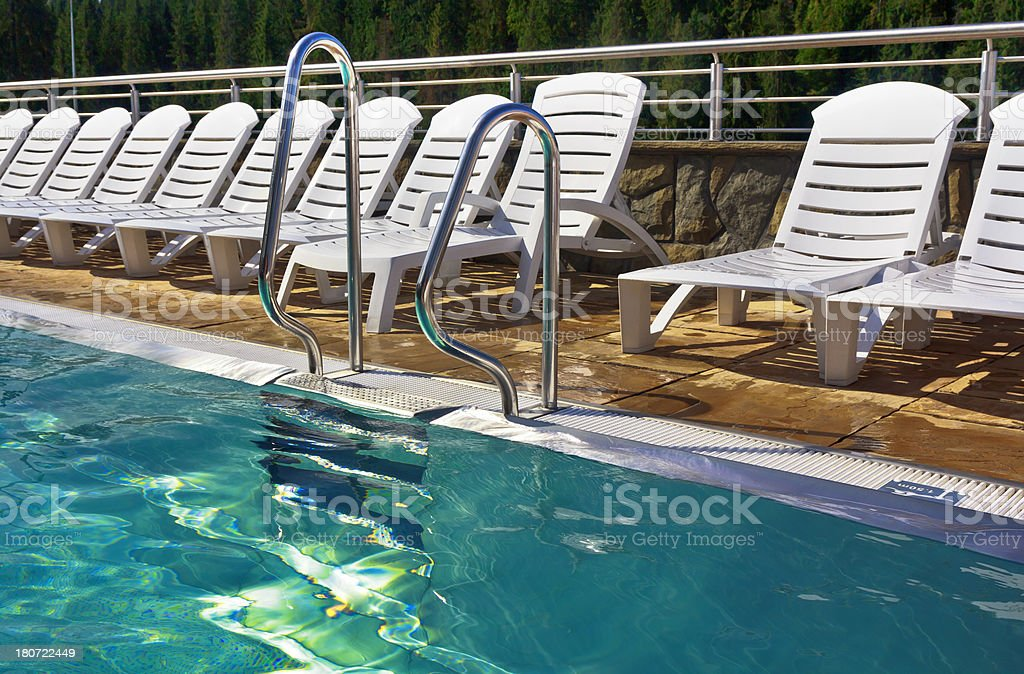 Outdoors swimming pool royalty-free stock photo