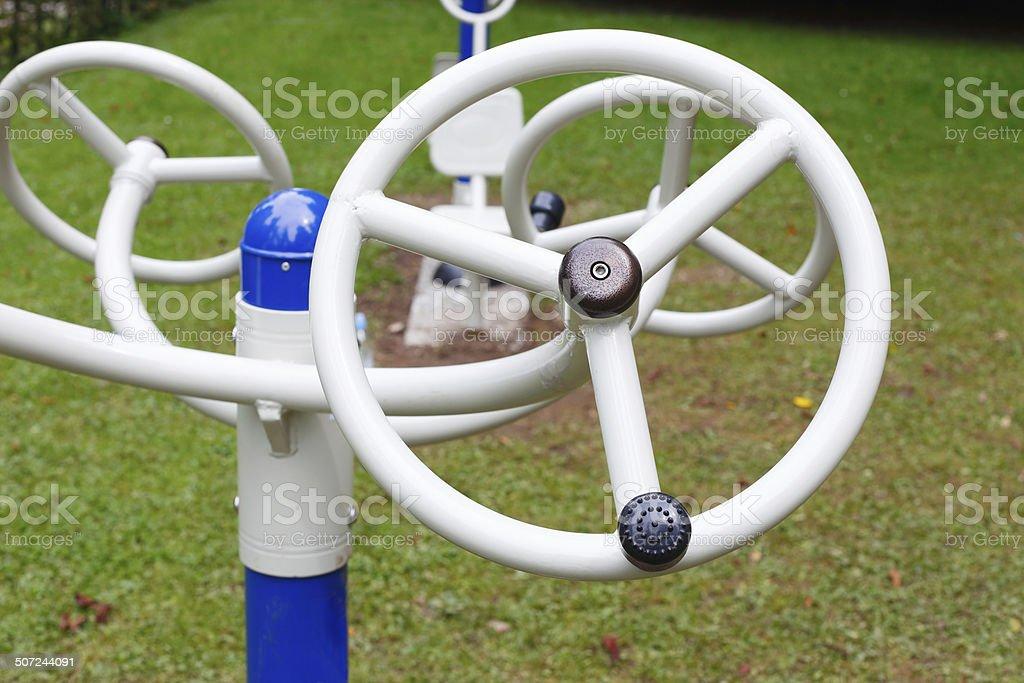 Outdoors training equipment stock photo