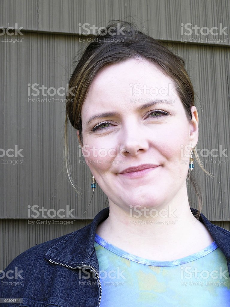 Outdoors Woman royalty-free stock photo