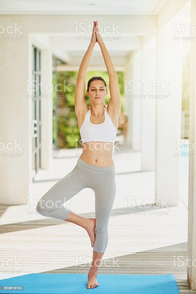 Outer balance equals inner balance stock photo