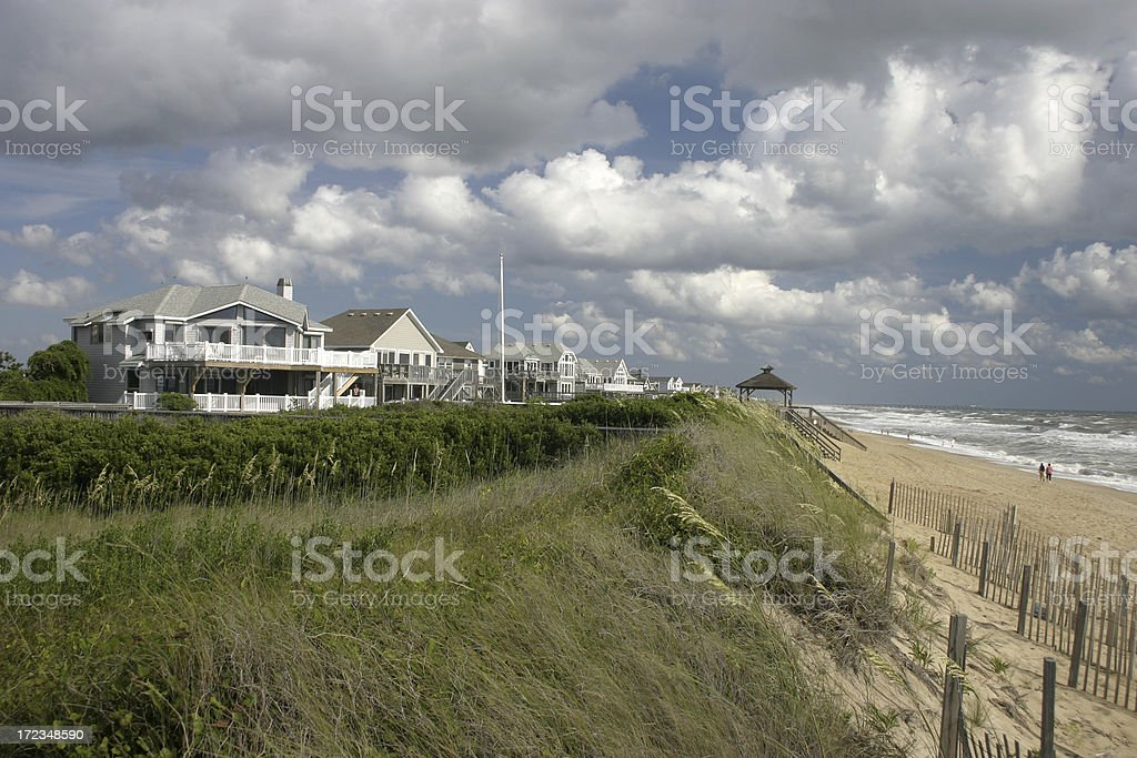 Outer Banks Beach Homes royalty-free stock photo