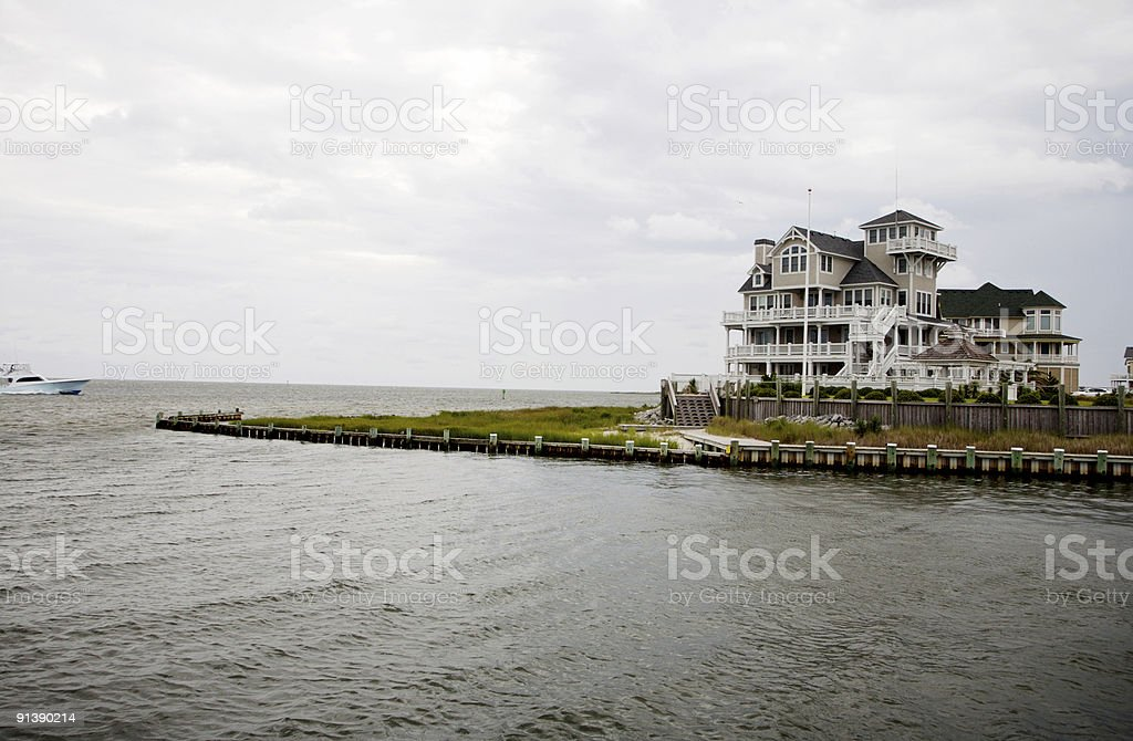Outer Banks Coastal Island Scenes stock photo
