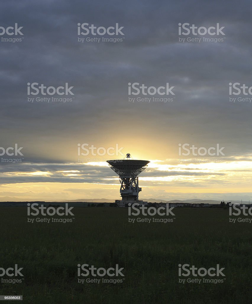 Outer-space communication locator stock photo