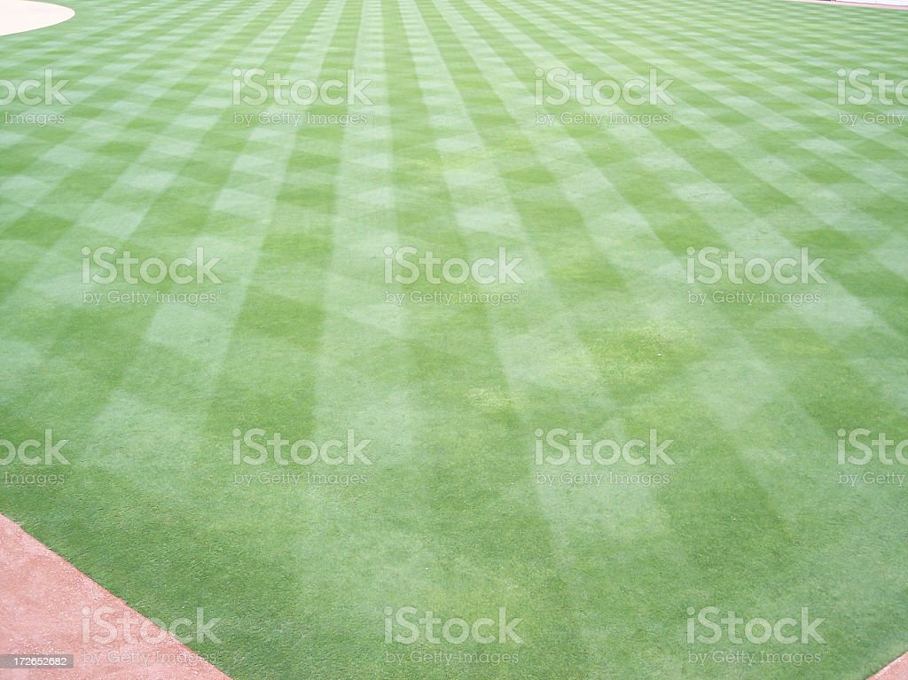 Outfield Criss Cross Pattern royalty-free stock photo