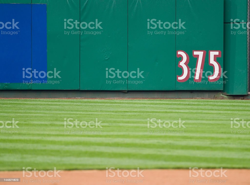 Outfield Dimension stock photo