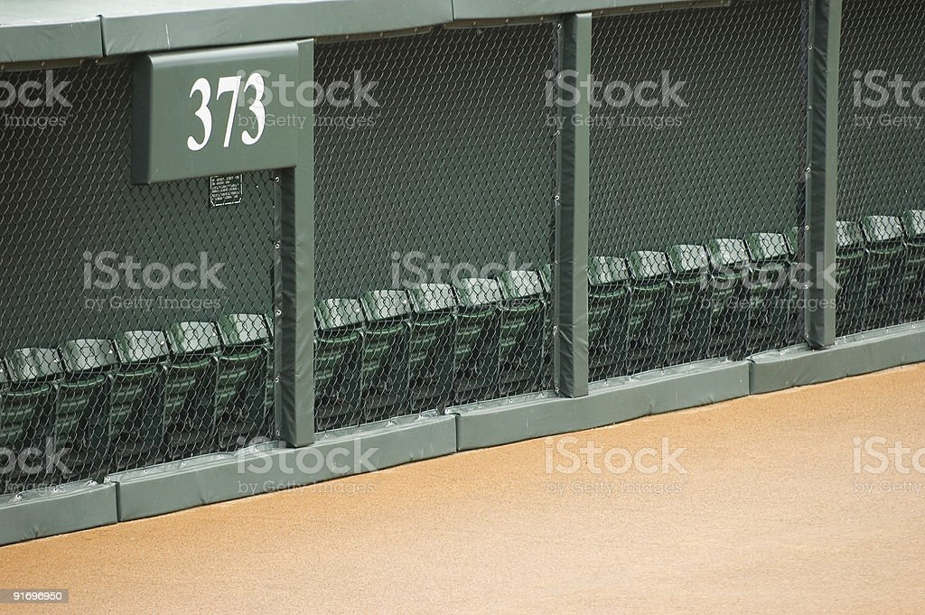 Outfield Fence stock photo