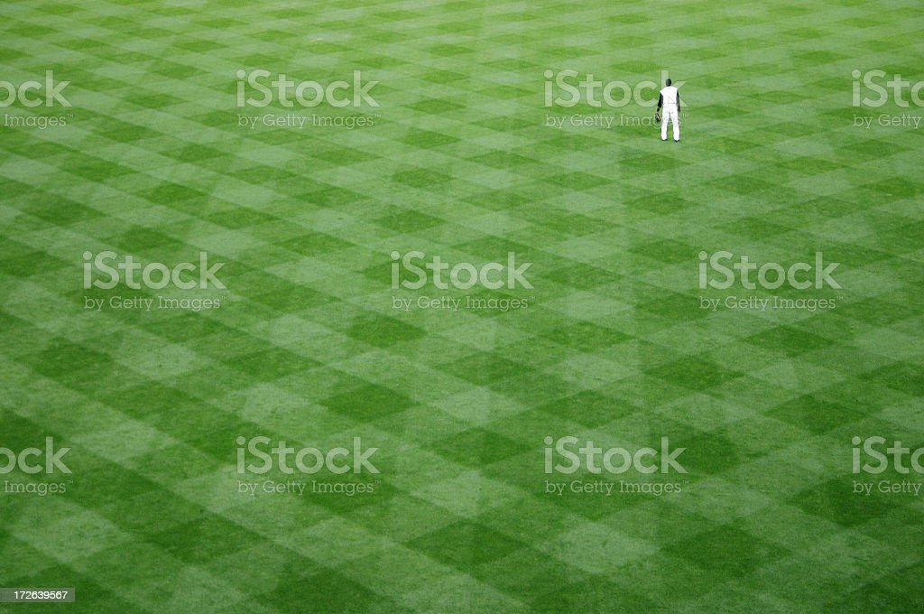 Outfielder stock photo