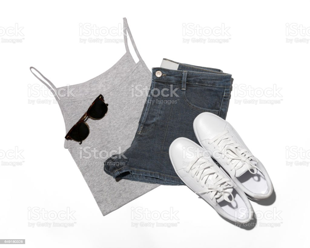 Outfit of casual woman stock photo