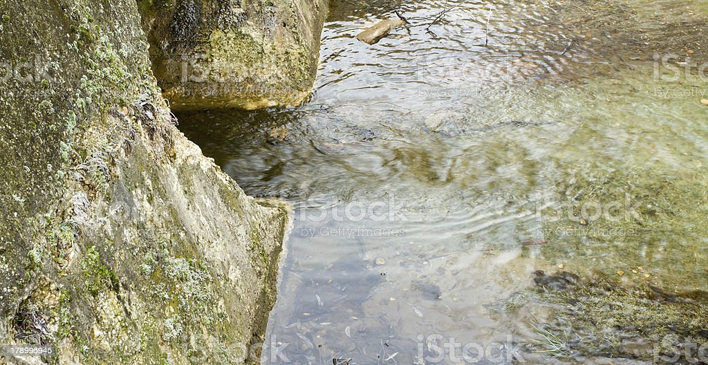 outflow channels royalty-free stock photo