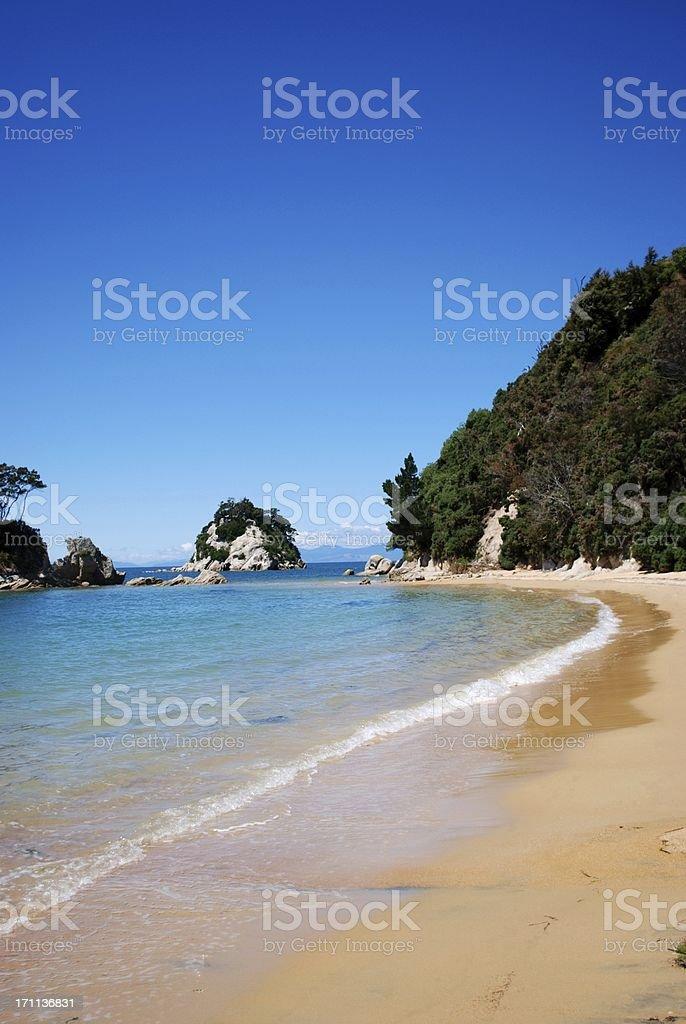 Outgoing Tide, Stephen's Bay, Kaiteriteri, NZ stock photo