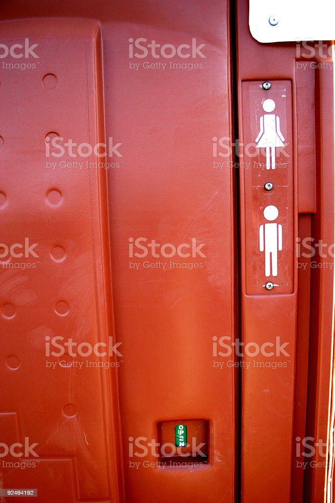 outhouse details stock photo