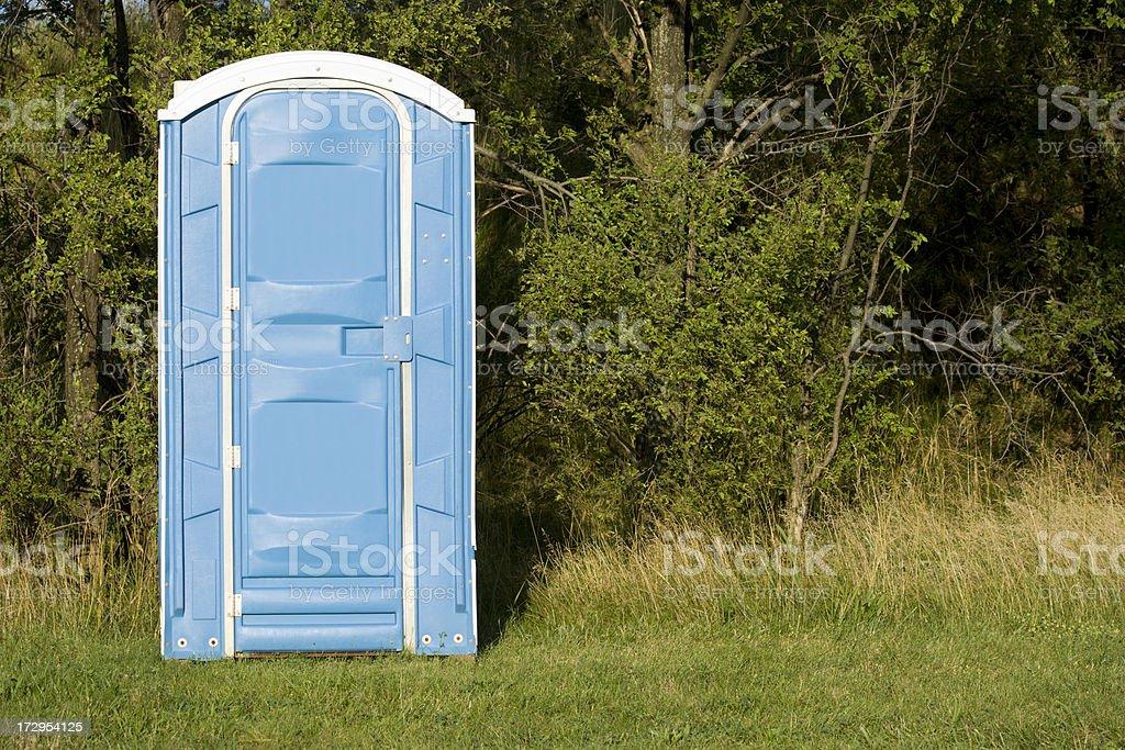 Outhouse stock photo