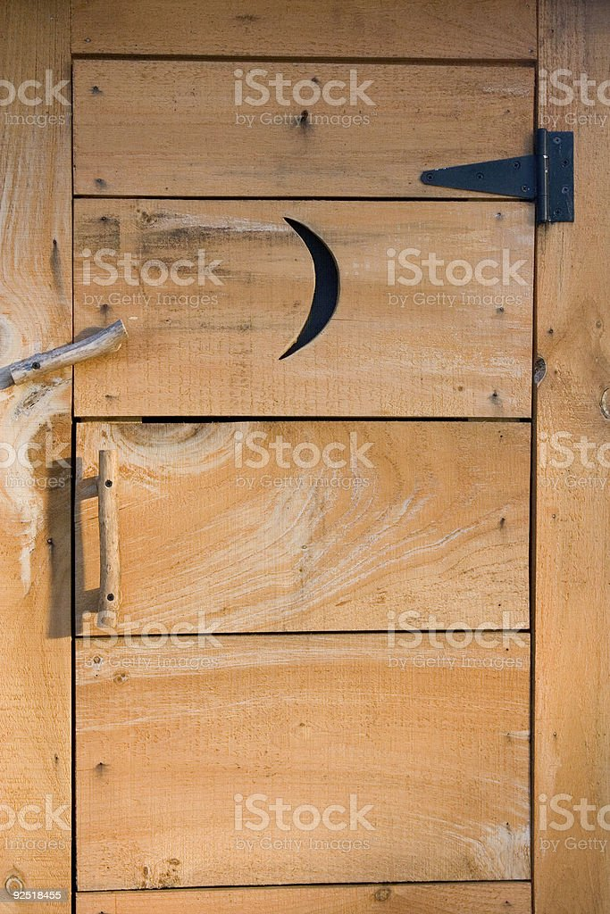 Outhouse royalty-free stock photo